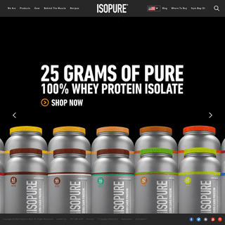Isopure® - 100- Pure Whey Protein Isolate Products