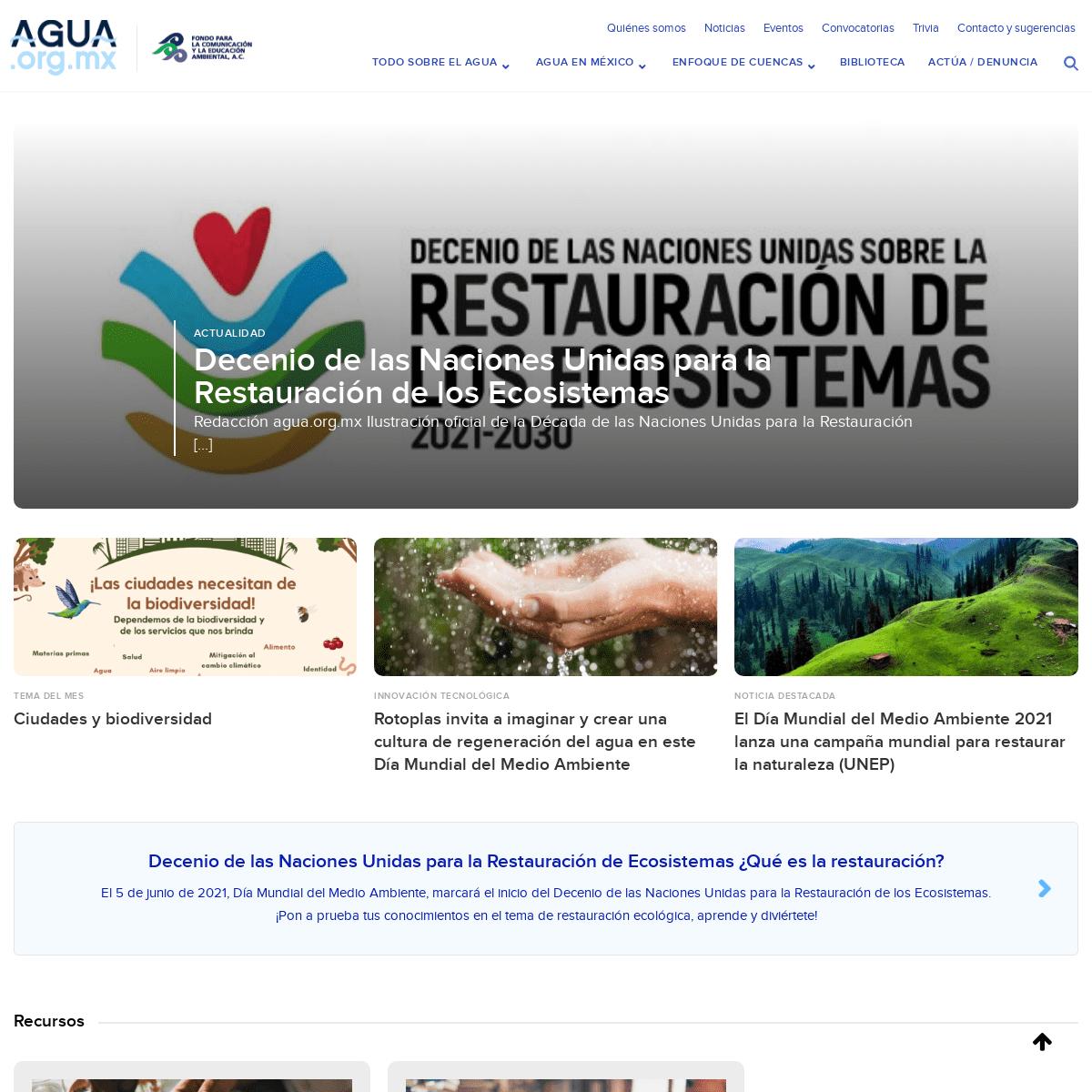 Agua.org.mx – Centro de Información del Agua