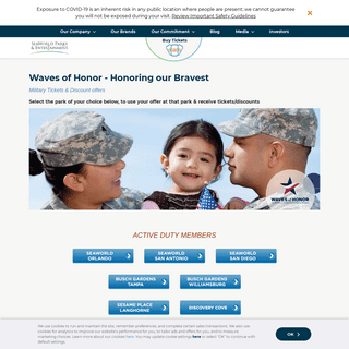 Military Offers and Discounts - SeaWorld Entertainment