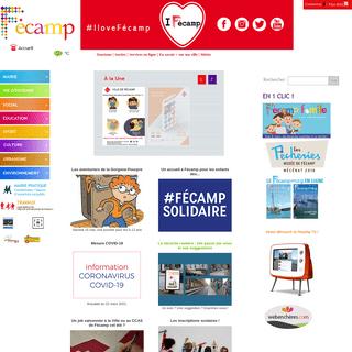 Fecamp Site officiel de la Ville de Fecamp