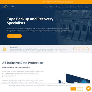NovaStor- Data Backup and Recovery Software Solutions