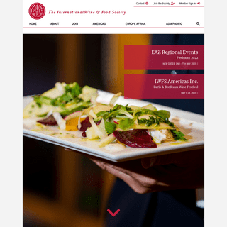 Welcome - The International Wine & Food Society (IW&FS)