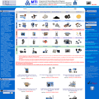 MTI Corp - Leading provider of lab equipments and advanced crystal substrates