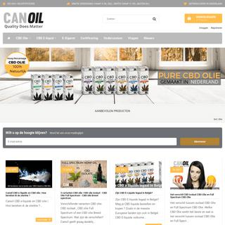 CBD Producent in CBD Olie en CBD E-Liquids - Canoil ™