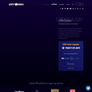CRYCASH - Decentralized Gaming Ecosystem