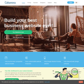 Website sitebuilder - HTML5 Website - Cabanova