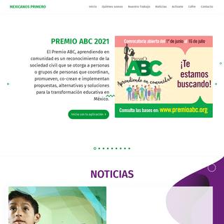 Mexicanos Primero. Solo la educación de calidad cambia a México