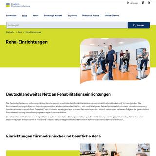 Deutsche Rentenversicherung - Reha-Einrichtungen