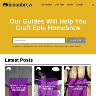 Bison Brew - Craft Beer Guides & Tips - Learn to Homebrew