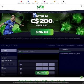 Spin Sports - A World Class Sportsbook