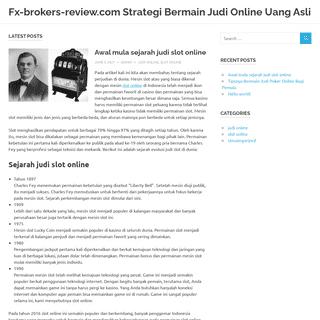Fx-brokers-review.com Strategi Bermain Judi Online Uang Asli