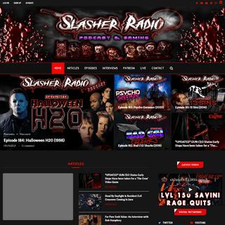 Slasher Radio Podcast, Gaming & News- #1 Horror Podcast