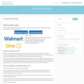 WalmartOne Wire Login - Onewalmart.com and Walmartone.com login