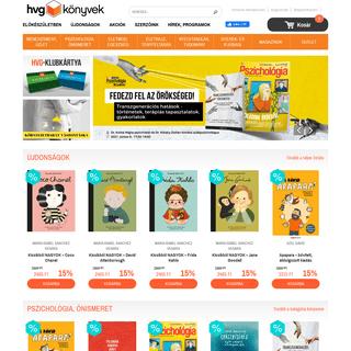 HVG Könyvek Kiadó, az online könyvesbolt