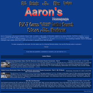 Aaron`s Homepage