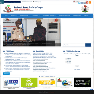 FRSC Official Website – Creating Safe Road in Nigeria