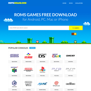 Download ROMS FREE for GBA, N64, SNES, NDS, GBC, GB, NES, PSX, PS2, PSP, MAME, SEGA and More! - RomsDownload.net