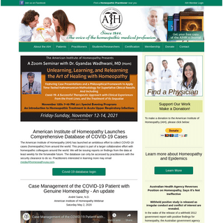 American Institute of Homeopathy - American Institute of Homeopathy