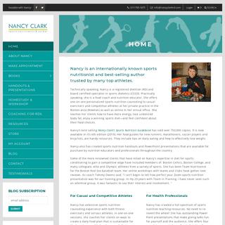 Nancy Clark RD – Sports Nutritionist & Author