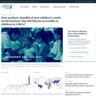 Access to Medicine Index - A research programme by the Access to Medicine Foundation