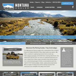 Montana Fly Fishing Trips - World Class Lodges & Expert Guides