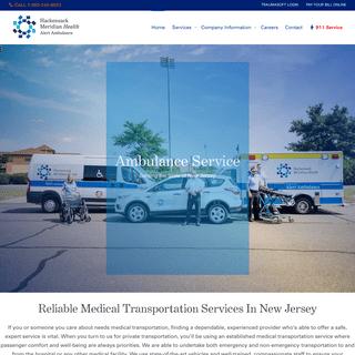 Medical Transportation New Jersey - Ambulance Services Near You!