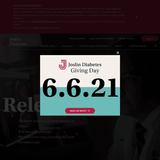 Joslin Diabetes Center – World Leader in Diabetes Care & Research