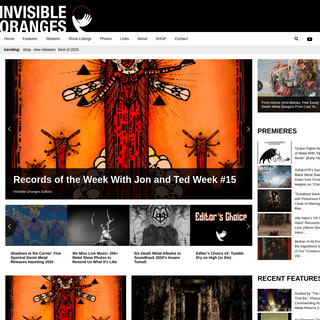 Invisible Oranges - The Metal Blog