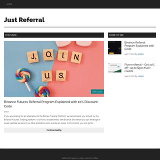 JustReferral.com- Referral Programs - Referral Codes, Links 2020