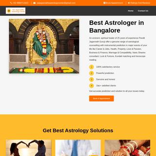 Best Astrologer in Bangalore - Sai Jagannatha Astrology Center
