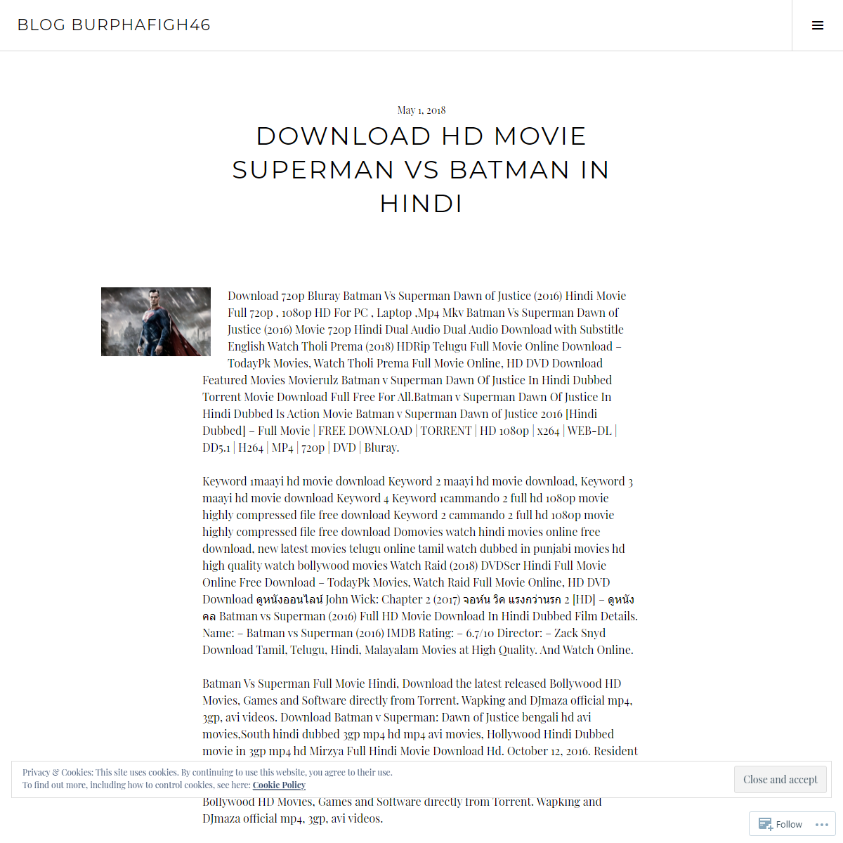 DOWNLOAD HD MOVIE SUPERMAN VS BATMAN IN HINDI – Blog BURPHAFIGH46