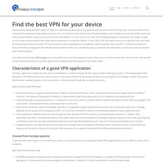 Key features of the viable VPN application- privacyradarpro.com