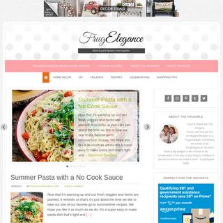 FrugElegance - where frugal & elegance come together