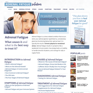 Adrenal Fatigue- How To Recover Naturally