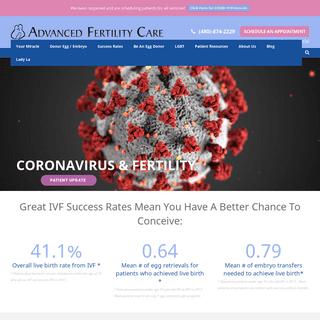 Advanced Fertility Care - Arizona Fertility - In Vitro Fertilization - IVF - Artificial Insemination
