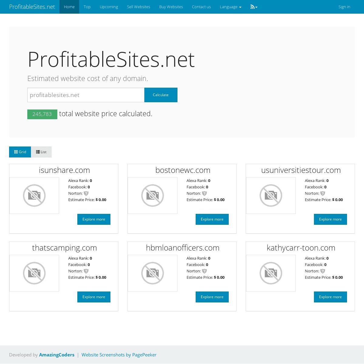 Get website cost online