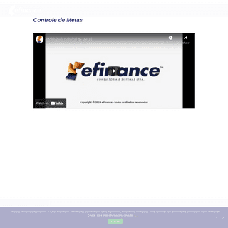 Controle de Metas - eFinance - Sistema para Loja de Móveis - eFinance - Sistema para Loja de Móveis
