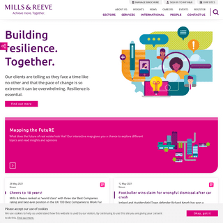 Mills & Reeve - UK law firm with global reach