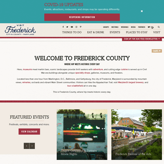 Frederick, Maryland - Things to Do, Dining, Hotels & Travel Guide
