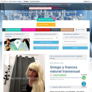 Griego y frances natural transexual - tel- 632745628 - Putas Barcelona citas