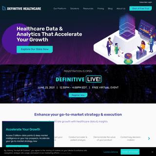 Healthcare Analytics & Provider Data - Definitive Healthcare