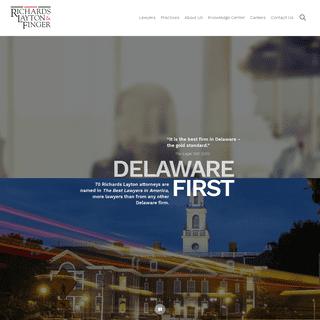 Richards, Layton & Finger - Delaware`s largest law firm