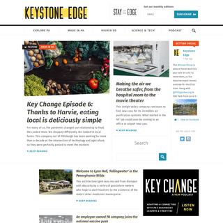 Keystone Edge - What`s Next & Best in Pennsylvania - Growth, Innovation, and Community News