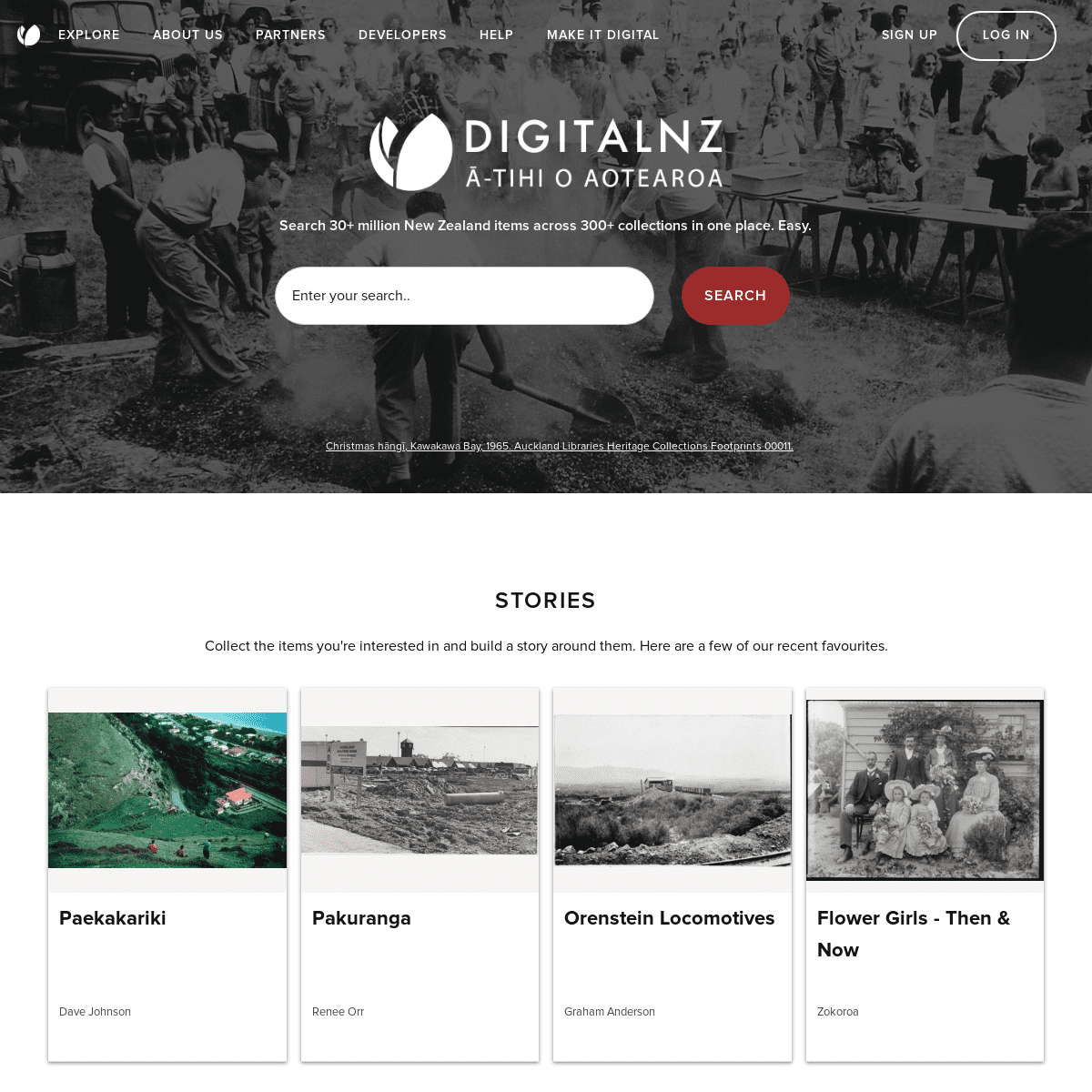 DigitalNZ - Search 30+ million New Zealand items across 300+ collections in one place. Easy.