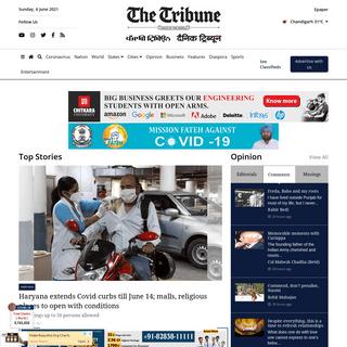 Latest News Updates - India Live News Online - The Tribune India