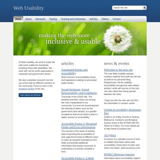 Web Usability - Website usability and accessibility