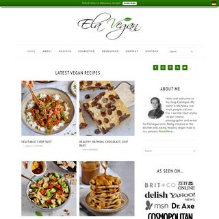 Elavegan - Recipes - Simple, healthy and delicious vegan recipes
