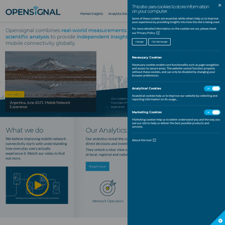 Mobile Analytics & Insights - Opensignal
