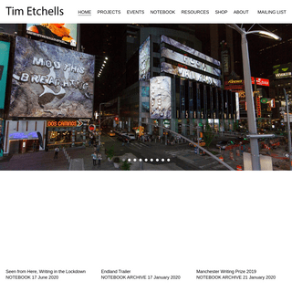 Home - Tim Etchells
