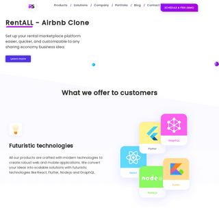 Clone Scripts - Built with React & Flutter - RentALLScript